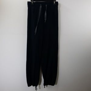 Lululemon Athletica Black Tie Front Joggers